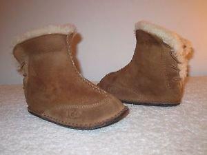 UGG Girls  Boo Boots Brown Size Medium, 12-18 months