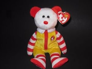 Ty Beanie Baby Ronald McDonald Bear 2004 CONVENTION EXCLUSIVE -New With Tags!-
