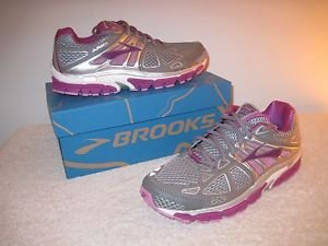 Brooks Womens Ariel '14 Athletic Running Sneakers Smoked Pearl/Violet Sz,9 NEW