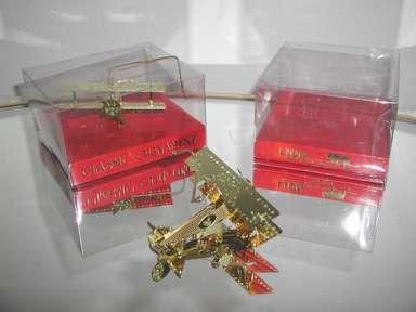 2 BI-PLANE Holiday Ornaments,Set Of 2,Classic Ornaments.,Lion Marketing Inc.