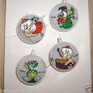Vintage Flintstones,Boxed Set, Bamm-Bamm Rubble & Hoppy Christmas Ornaments