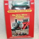 "Thomas & Friends:""On Site With Thomas"" DVD ,Wooden Train Bonus Pack!,NEW SEALED"