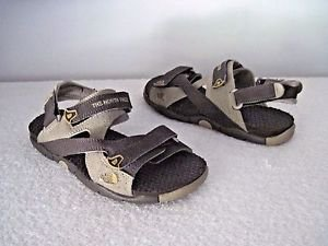 North Face Boy's Garcons Sandals,Earth Tone Brown/Beige Sz 4
