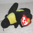 TY Beanie Baby BUMBLE the Bee 4th Gen Hang Tag  PVC Pellets