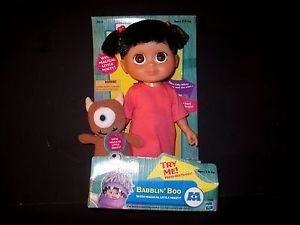 RARE! BABBLIN' BOO WITH MAGICAL LITTLE MIKEY 2001 MONSTERS INC DOLL-NEW IN BOX-
