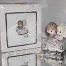 """Precious Moments """"Just Married"""" Porcelain Figurine #103018  With Box"""