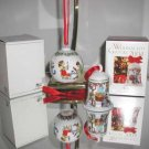Hutschenreuther Weihnachts Glocke 2004 Bell & 2003 Porcelain Ball Ornaments