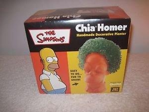 The Simpsons Homer Simpson Chia Homer Chia Pet Plant Planter Sealed
