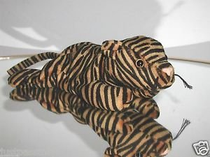 Ty Stripes Beanie Baby,Early 1st Version,Dark Orange & Black,2nd Gen Tush Tag