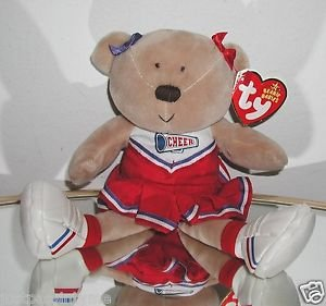 Ty Beanie Baby ~ POMPOMS the Cheerleader Bear with Tags