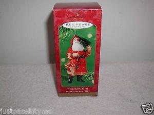 "Hallmark ""Winterberry Santa"" Holiday Ornament,Christmas Ornament"