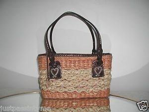 Brighton Purse With  Leather Trim - Very Nice Condition,Includes Flannel Bag
