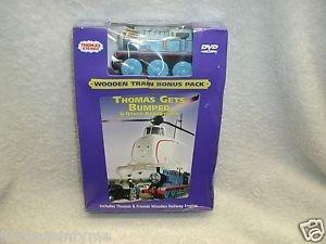 "Thomas & Friends ""Thomas Gets Bumped"" DVD  + Bonus Wooden Train"