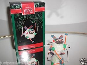 "Hallmark Keepsake,""Skiing 'Round,Christmas,Holiday,Ornament,New In Box"