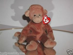 Ty  Beanie Baby Bongo,3rd Generation Hang Tag-Tan Tail