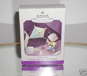 Hallmark,Keepsake  Ornament - Going Up? - Charlie Brown - Kite - Peanuts - 1998