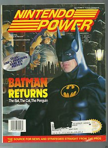 Nintendo Power Batman Returns,Bubsy Poster and Double Trading Cards,Volume 48