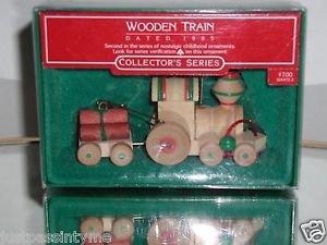 Hallmark Keepsake Ornament, 1985 Wooden Train,2nd In Collector's Series