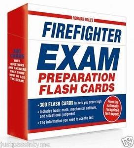Firefighter Exam Preparation Flash Cards Fire Fighter Test Prep Study Help