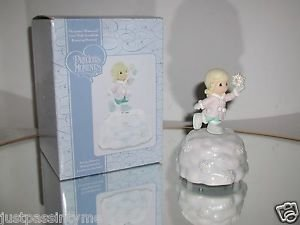 "PRECIOUS MOMENTS ""GIRL WITH SNOWFLAKE"" ROTATING MUSICAL,BOXED"