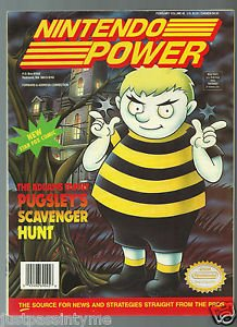 Nintendo Power Pugsley's Scavenger Hunt,Star Fox Poster & 6 Trading Cards!Vol 45