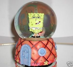 Sponge Bob Square Pants,Musical,Water Globe,Inside Pineapple House w/Gary