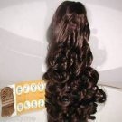"HAIR EXTENSION,LONG,16"",DARK BROWN, CURLY PONYTAIL DRAW STRING STYLE,NEW"