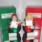 Dept. 56 Village Collector Ornament Set Noel,#18590 & 18591 Girl & Boy,Boxed
