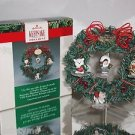 Hallmark Keepsake,Frosty Friends Memory Wreath Display Complete With Ornaments