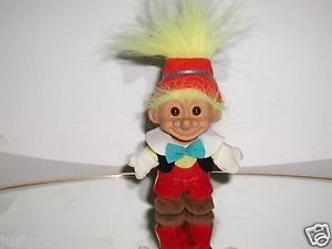 Russ PINOCCHIO Troll Doll,With Extended Nose,Yellow Hair