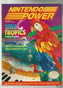 """Nintendo Power """"Star Tropics"""",Vol.21, Includes:  Metal Storm Poster"""