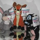 Disney, Bambi Plush Beanies 3 Piece Set,Bambi,Thumper & Flower,New With Tags! @