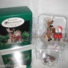 "Hallmark Keepsake""FISHING FOR FUN"" Ice Fishing,Christmas Ornament,New In Box"