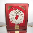 "LENOX,Christmas Wreath Ornament,""From Our Home To Yours"" New In Box"