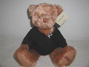 """Burberry Fragrance 12"""" Plush Teddy Bear/ Navy Polo Shirt, Limited Ed 2010"""