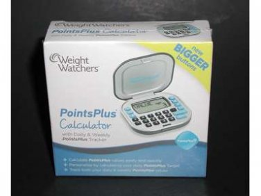 New Sealed WEIGHT WATCHERS Points Plus Calculator Daily Tracker BIGGER BUTTONS