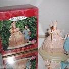 "Hallmark Wizard of Oz ""Dorothy & Glinda,The Good Witch"" Holiday ornament w/stand"