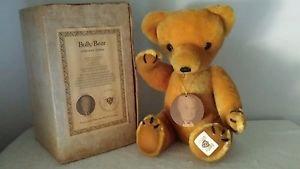 Nisbet Mohair Bully Bear Teddy Bear in original box with Certificate