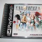 Final Fantasy IX 9 (Sony PlayStation 1, 2000) PS1, 4 Discs   -BLACK LABEL-