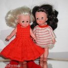 Furga Dolls,Mini Pair,Blonde & Brunette,Made In Italy,Highty Detailed Dolls !