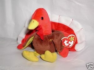 Ty GOBBLES Beanie Baby,Thanksgiving Day Turkey Plush,Soooo Cute!