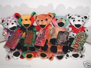 5 GRATEFUL DEAD BEARS, COSMIC CHARLIE, PEGGY-O,  IRIE, DUPREE & SUNSHINE TAGGED