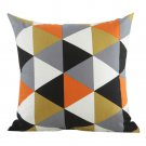 Argyle Pattern Cotton Square Shaped Decorative Pillow Cover