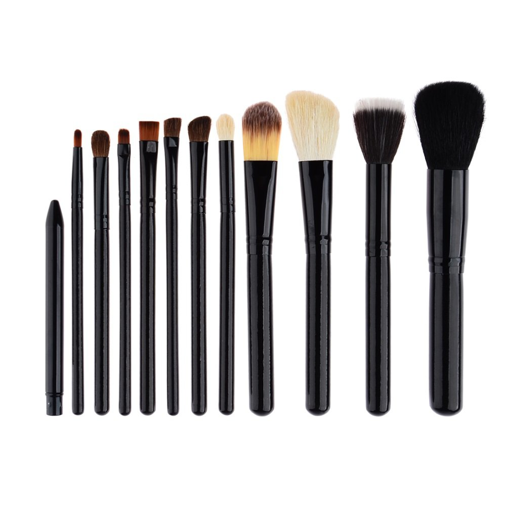12 in 1 Professional Cosmetic Makeup Brush Kit with Barrel Packaging