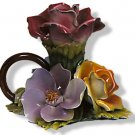 Capodimonte Rose Candleholder (6 pc. min.)