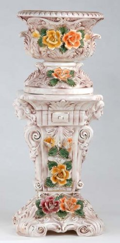 Capodimonte Reproduction Pedestal & Planter