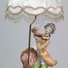 Capodimonte Reproduction Man w/ Violin Lamp