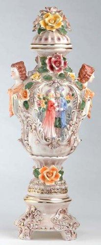Capodimonte Reproduction Vase w/ Lid