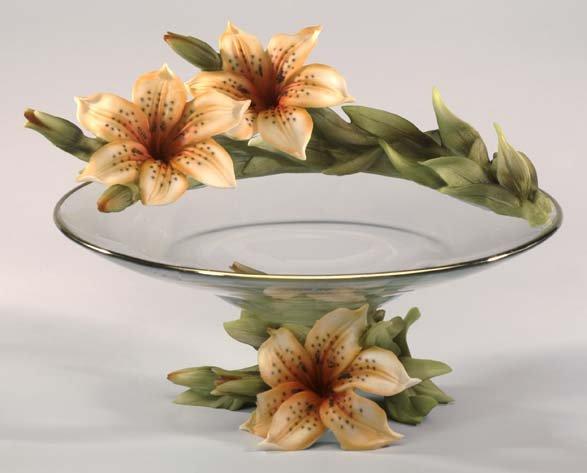 Cevik Bowl w/ Flowers