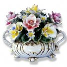 Capodimonte Small Flower Centerpiece w/ Two Handles